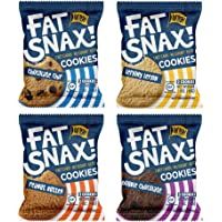 Fat Snax Cookies - Low Carb, Keto, and Sugar Free (Variety Pack, 12-pack (24 cookies)) - Keto-Friendly & Gluten-Free…