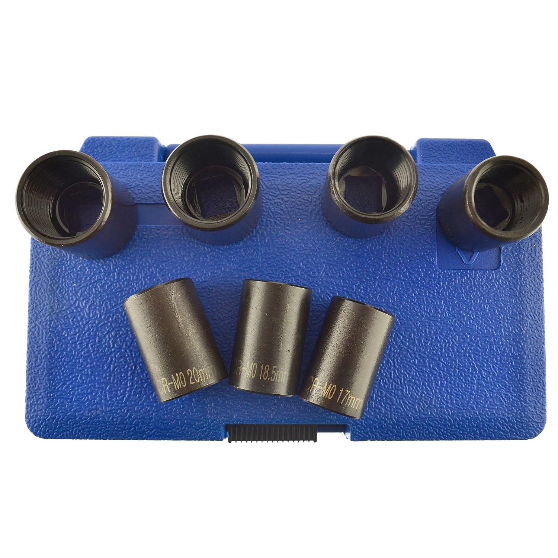 removal U.S.PRO AT136 wheel lock nut remover 7pc 1//2 drive twist socket set