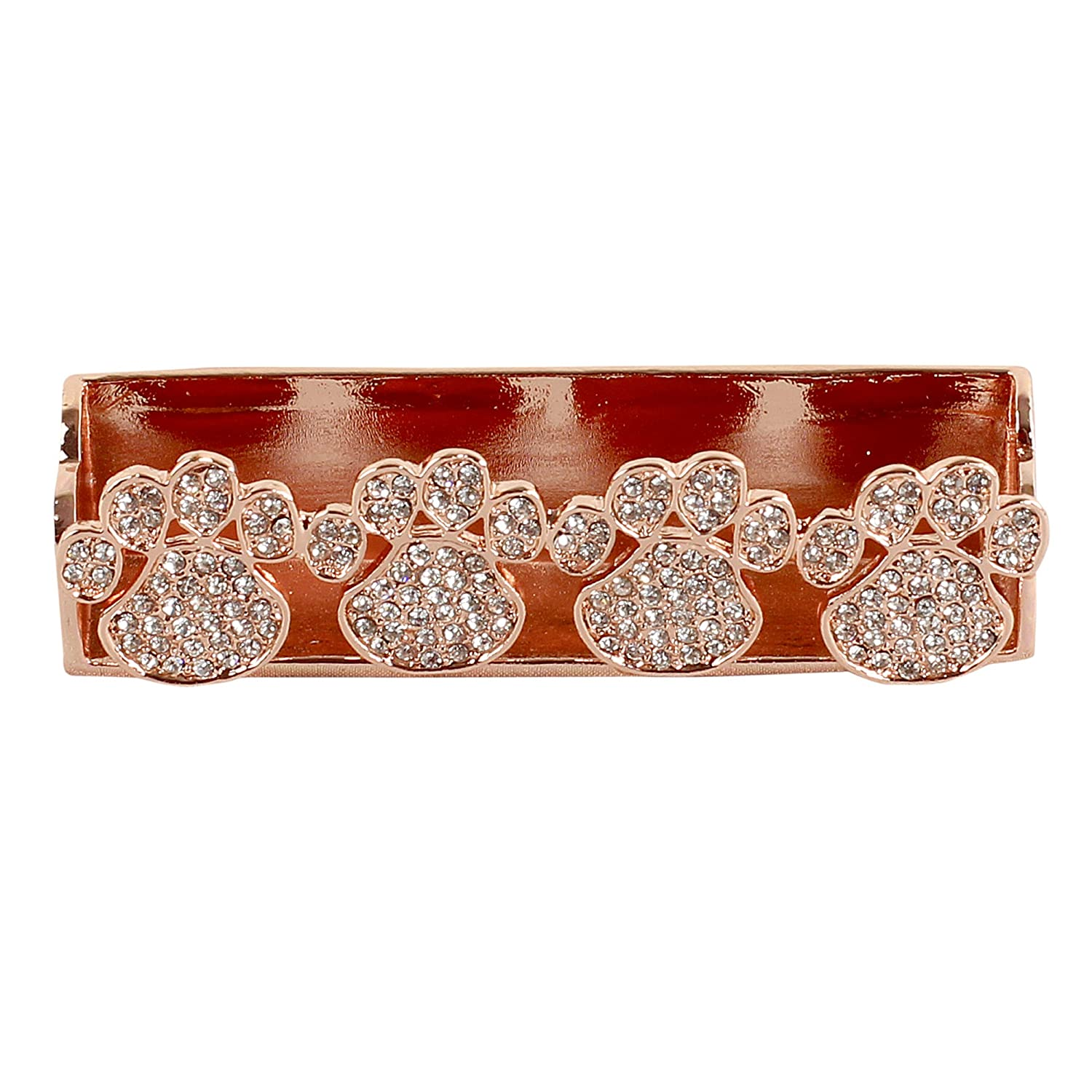 Amazon.com : Paw Print Business Card Holder (rose gold) : Office ...