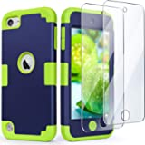 iPod Touch 7 Case with 2 Screen Protectors, iPod 6 Case, IDweel 3 in 1 Hard PC Case + Silicone Shockproof for Kids Heavy…