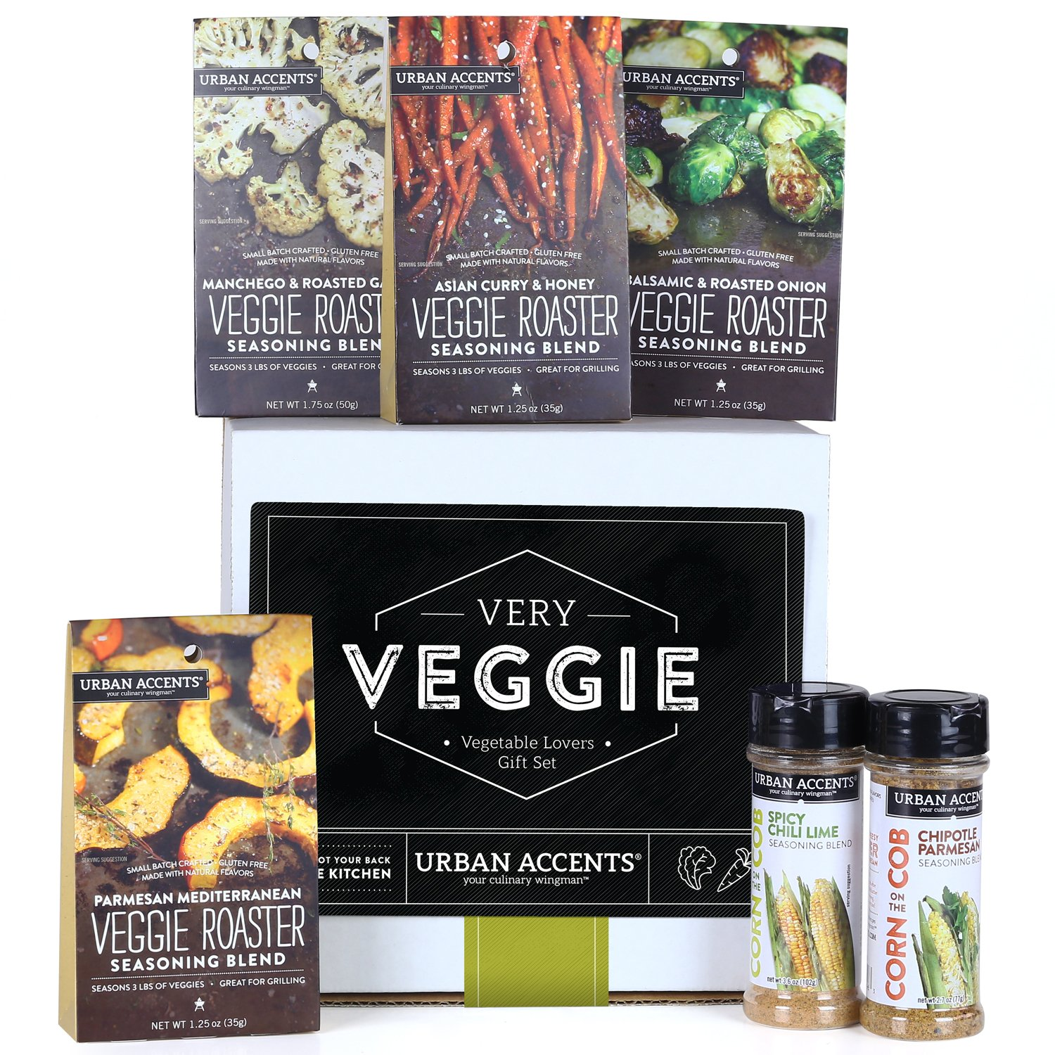 Urban Accents VERY VEGGIE Vegetable Lovers Spice and Seasoning Gift Set, Hostess Gift For Any Occasion