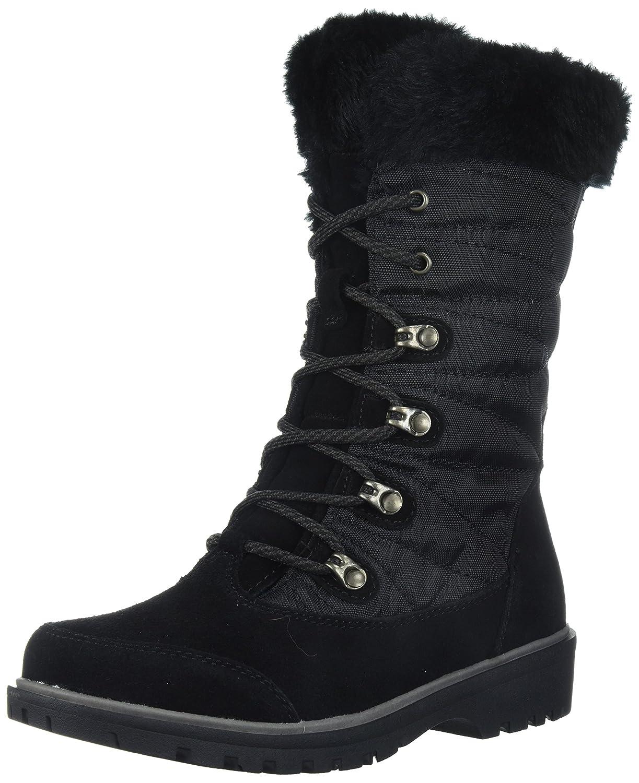 BareTraps Women's Satin Snow Boot, Mud, 6 M US B071HJ9GV8 11 B(M) US|Black