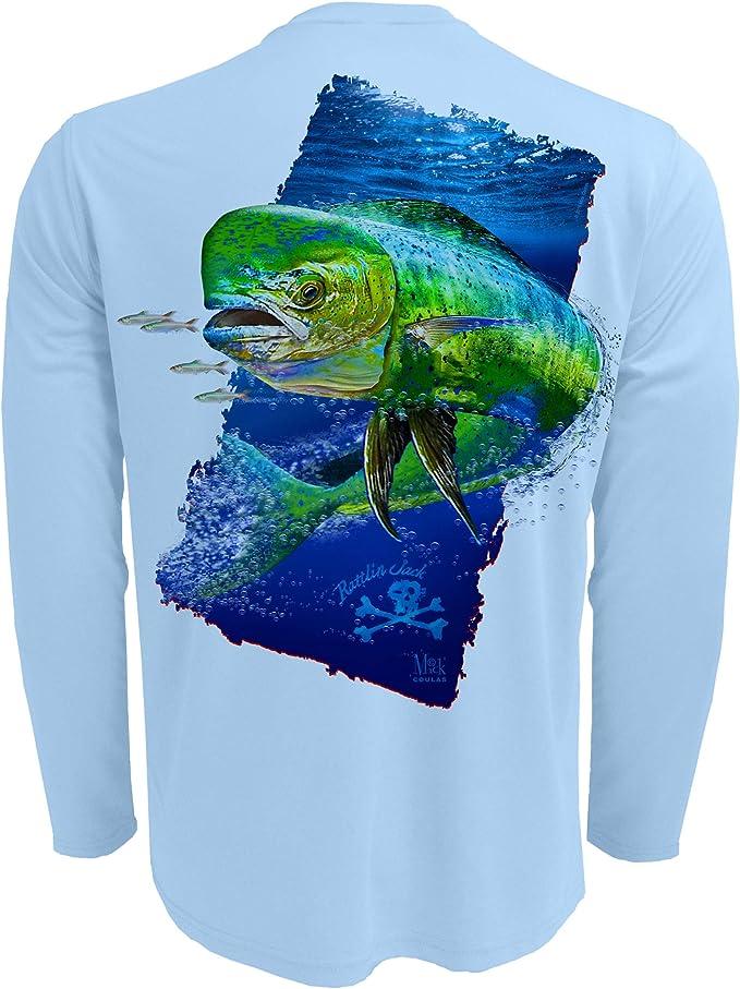 Costa Tech Dorado Performance Fishing Shirt Pick Size-Free Ship Blue UPF 50