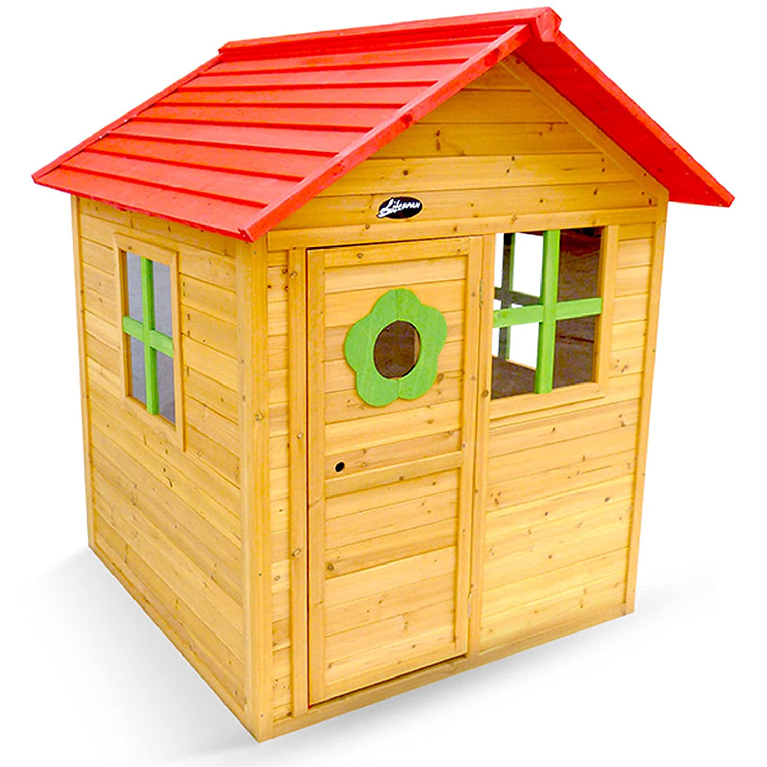 amazon com outward play badger cubby wood playhouse toys u0026 games
