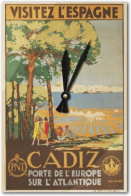 Cádiz – Visitez L espagne Vintage Póster (artista: de Castro ...
