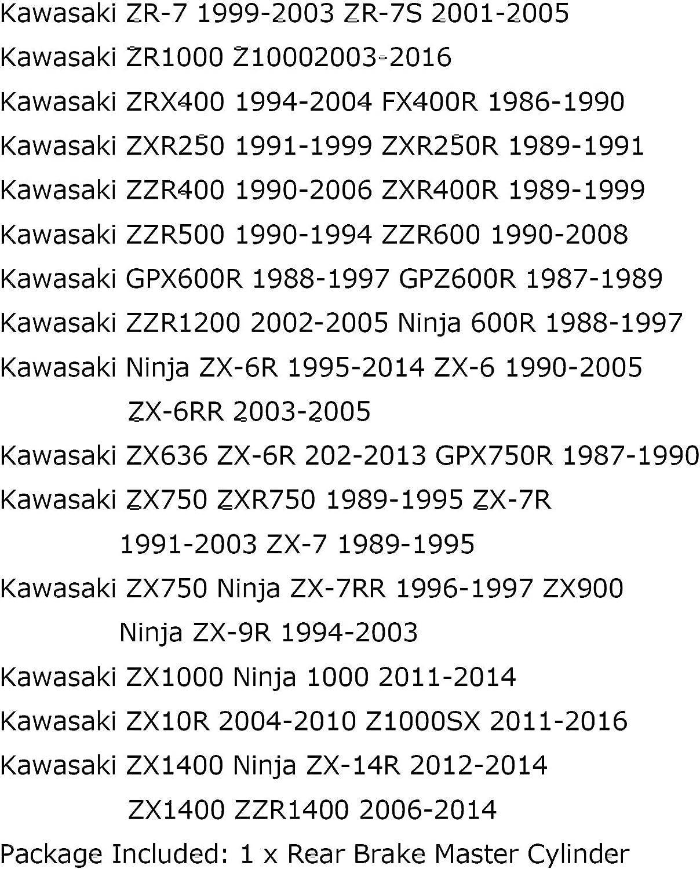 Pompa cilindrica per freno posteriore per Ka-wa-sa-ki Ninja ZX6 ZX7 ZX6R ZX6RR ZX7R 89-14 Areyourshop