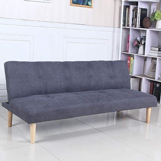 Sofá Cama 3 plazas Clic Clac Joy Gris Oscuro tapizado con Tela 100 ...