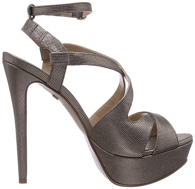 Buffalo London ZS 4107-14 MICRO DOTS, Damen Knöchelriemchen Sandalen, Gold (PEWTER  31), 40 EU: Amazon.de: Schuhe & Handtaschen
