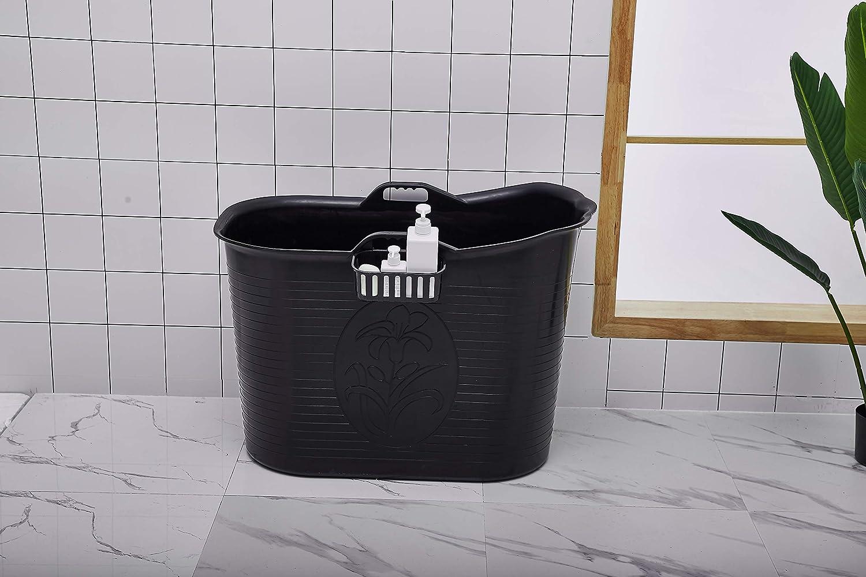 Mobile Badewanne, Ideal fü r das kleines Badezimmer, Stylisch und Stimmungsvoll (Weiß ) Schwanbad