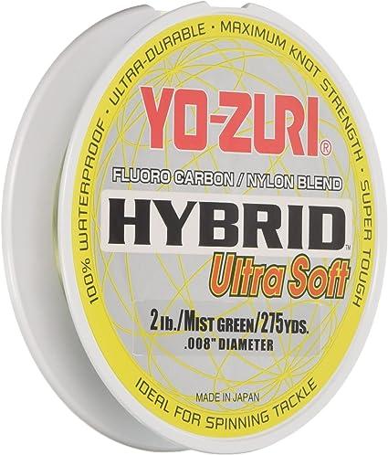 275 Yards Mist Green YO ZURI Hybrid Fluorocarbon Ultra Soft Fishing 2 lb Line