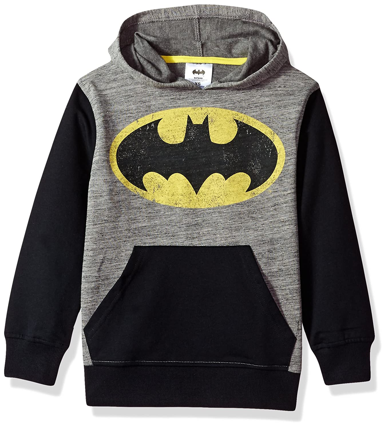 DC Comics Boys' Big Batman Fleece Pullover Hoodie Hybrid Children's Apparel 2YDCB803FL