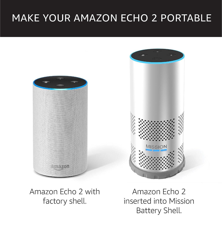 Mission Carcasa con batería para Amazon Echo de 2.ª ...