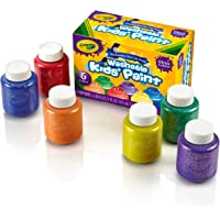 Crayola; Washable Glitter Paint; Art Tools; 6 ct.; Great for Classroom Projects