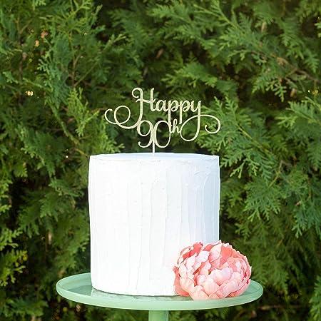 Decoración para tarta de 90 cumpleaños, decoración para ...