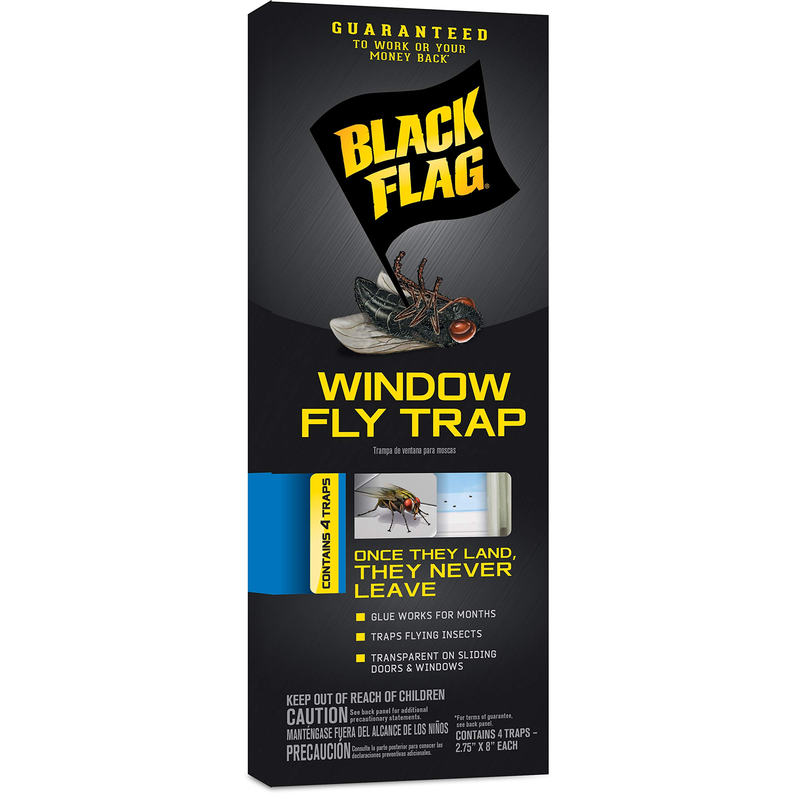 Black Flag HG-11018 Window Fly Trap, Pack of 1 Brown/A
