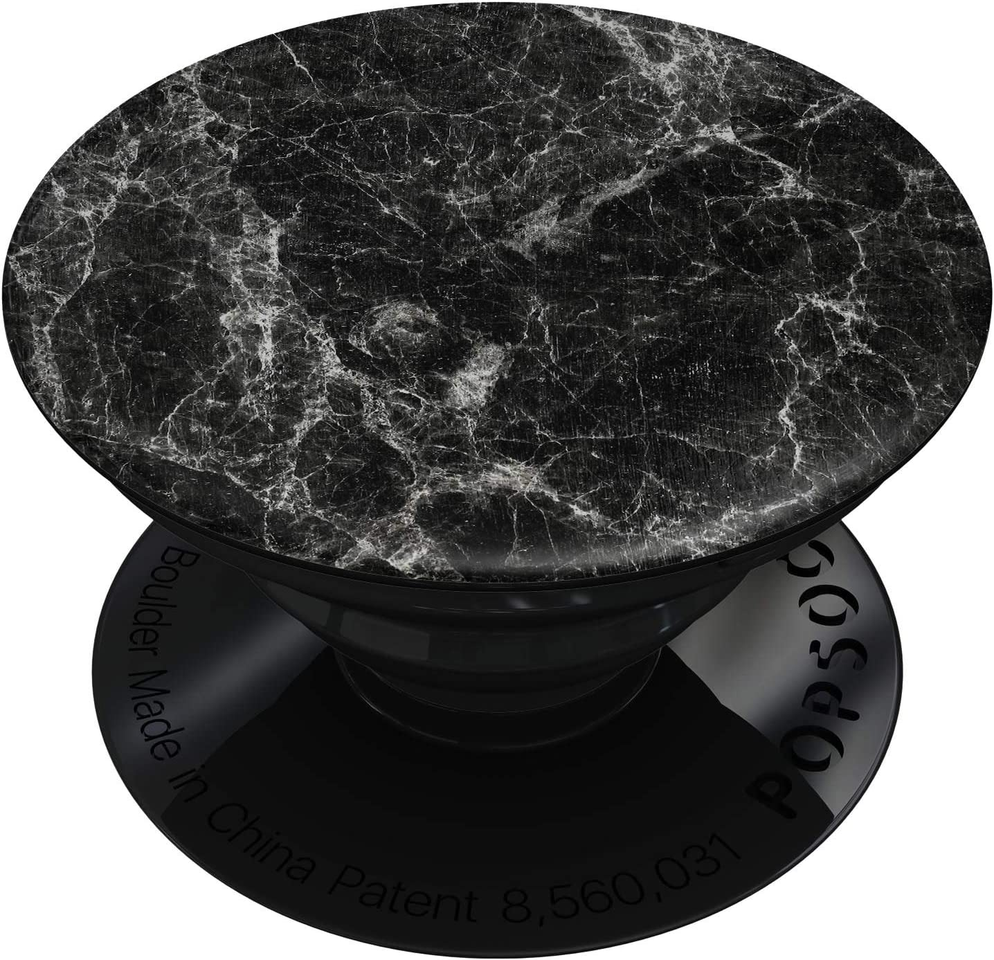 DesignSkinz Premium Decal Sticker Skin-Kit for PopSockets Smartphone Extendable Grip /& Stand Black Scratched Marble