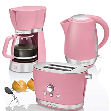 set kaffeemaschine toaster wasserkocher gelb