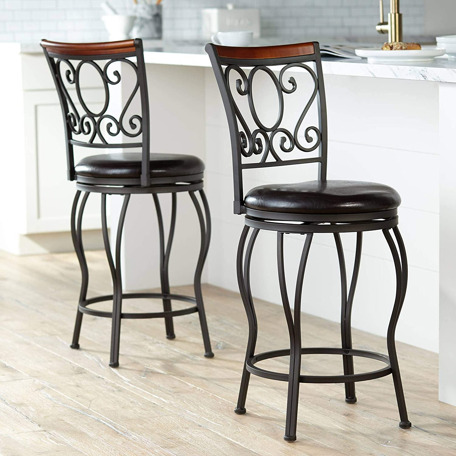 Alberta 24 High Swivel Counter Stools Set of 2