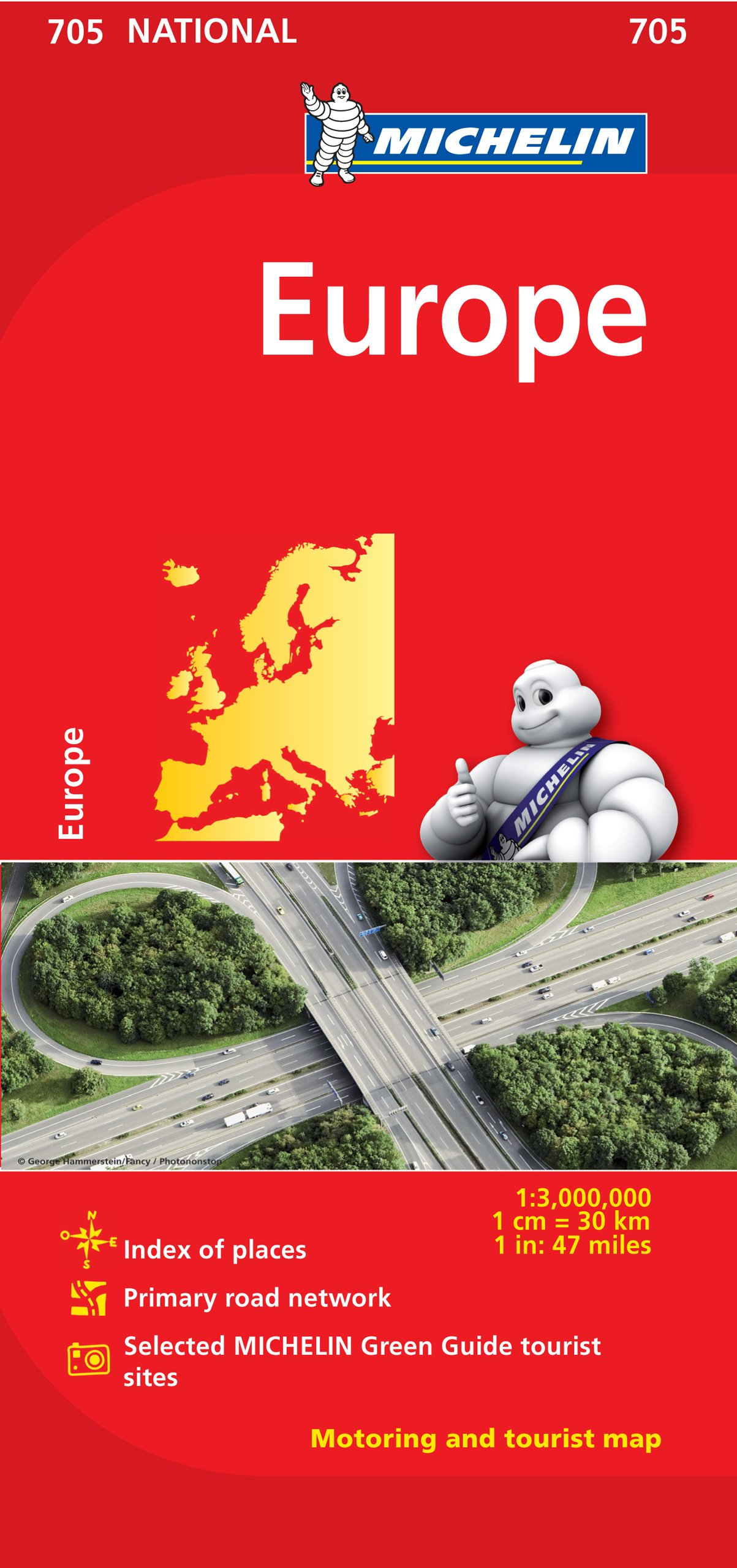Buy Michelin Europe Map 705 Michelin Maps Book Online At Low