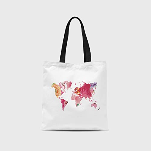 Amazon floral world map tote bag canvas tote bag stylish floral world map tote bag canvas tote bag stylish tote bag gumiabroncs Choice Image