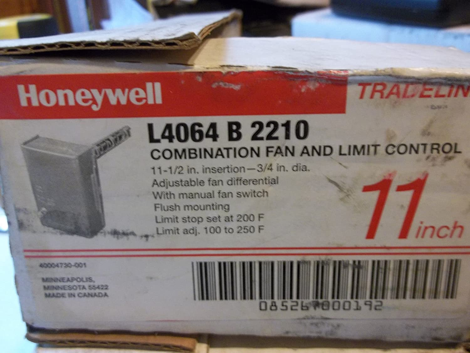NEW L4064B2210 HONEYWELL 11 FURNACE TIMED ON FAN LIMIT CONTROL