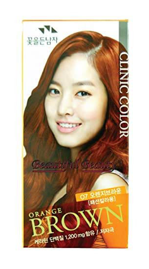 Somang Clinic Hair Color Orange Brown O7 By The Flower Men Amazon