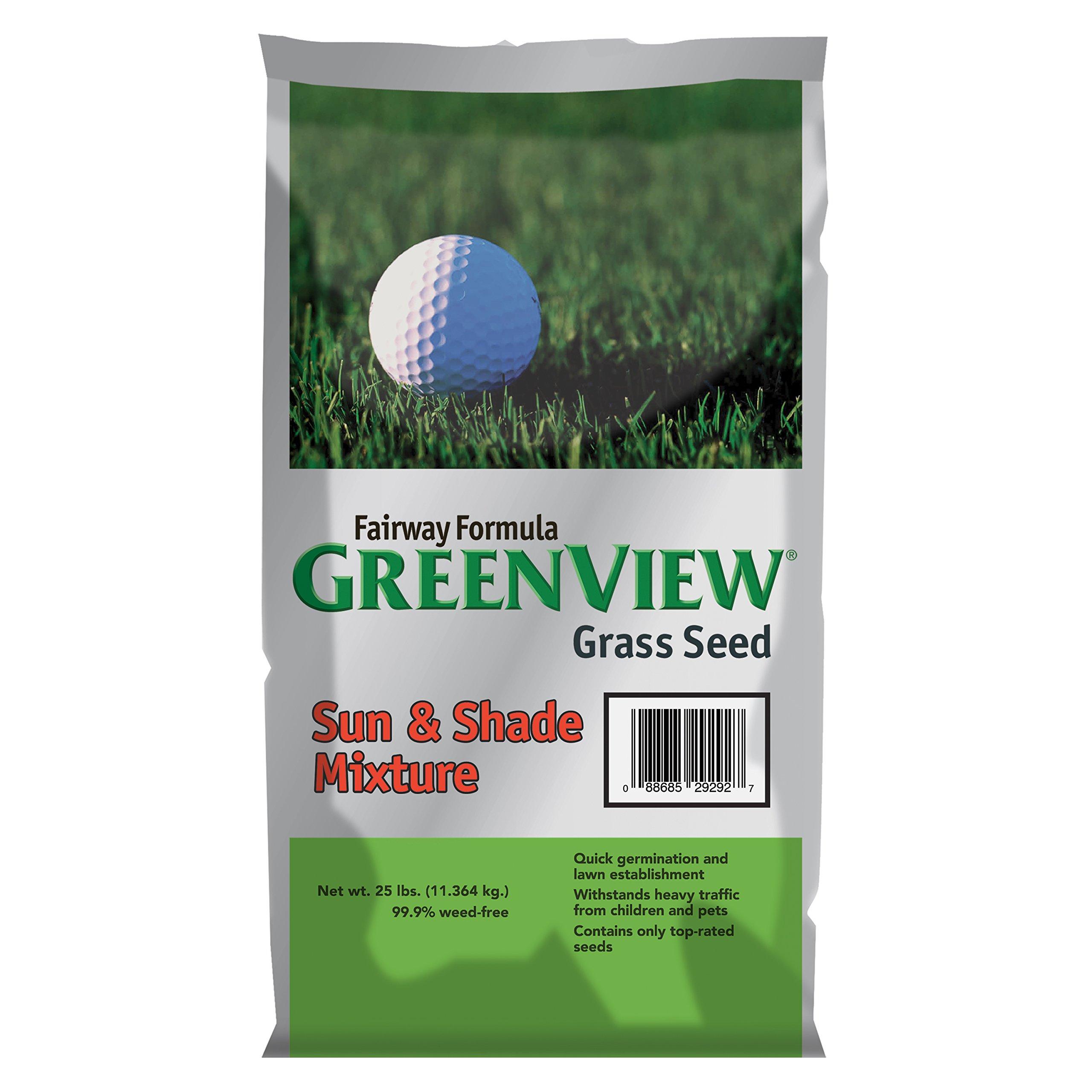 GreenView Fairway Formula Grass Seed Sun & Shade Mixture, 25 lb Bag