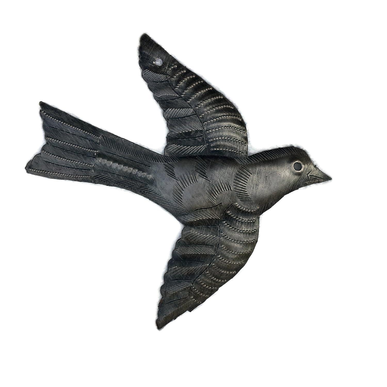 小さなメタルBird Flying、ハイチリサイクルメタルドラム壁アート6