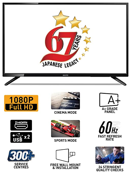 Sanyo 80 cm (32 Inches) Full HD LED TV XT-32S7100F (Black)