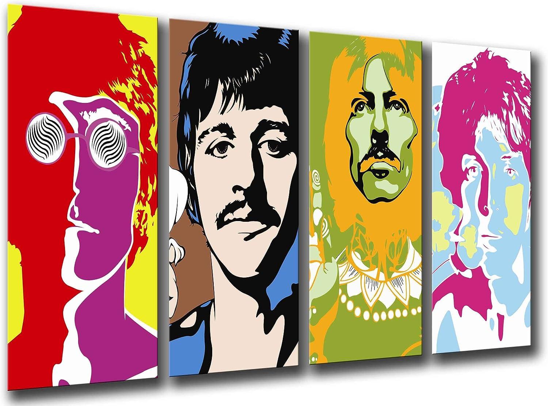Cuadro Fotográfico Beatles, John Lennon, Paul Mccartney Tamaño total: 131 x 62 cm XXL