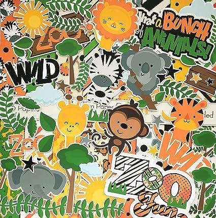 by Miss Kate Cuttables Over 60 Cardstock Scrapbook Die Cuts Paper Die Cuts Zoo Fun