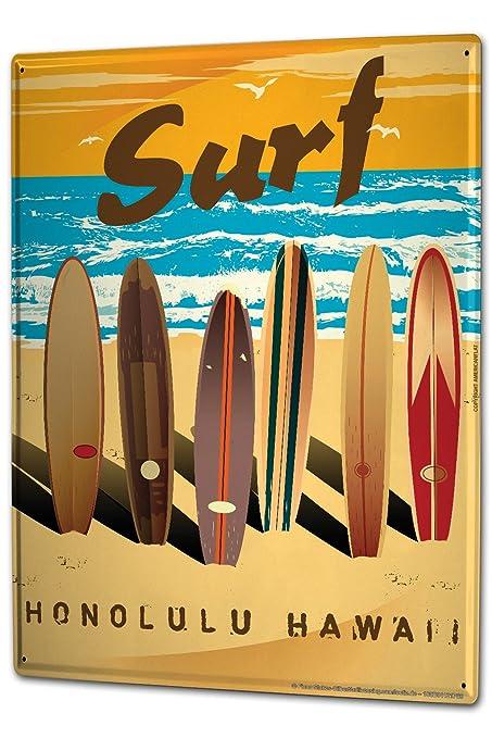 Blechschild Sport Hawaii Surfing