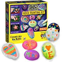 Creativity for Kids Glow In The Dark Rock Painting Kit - Paint 10 Rocks with Water Resistant Glow Paint - Crafts for…