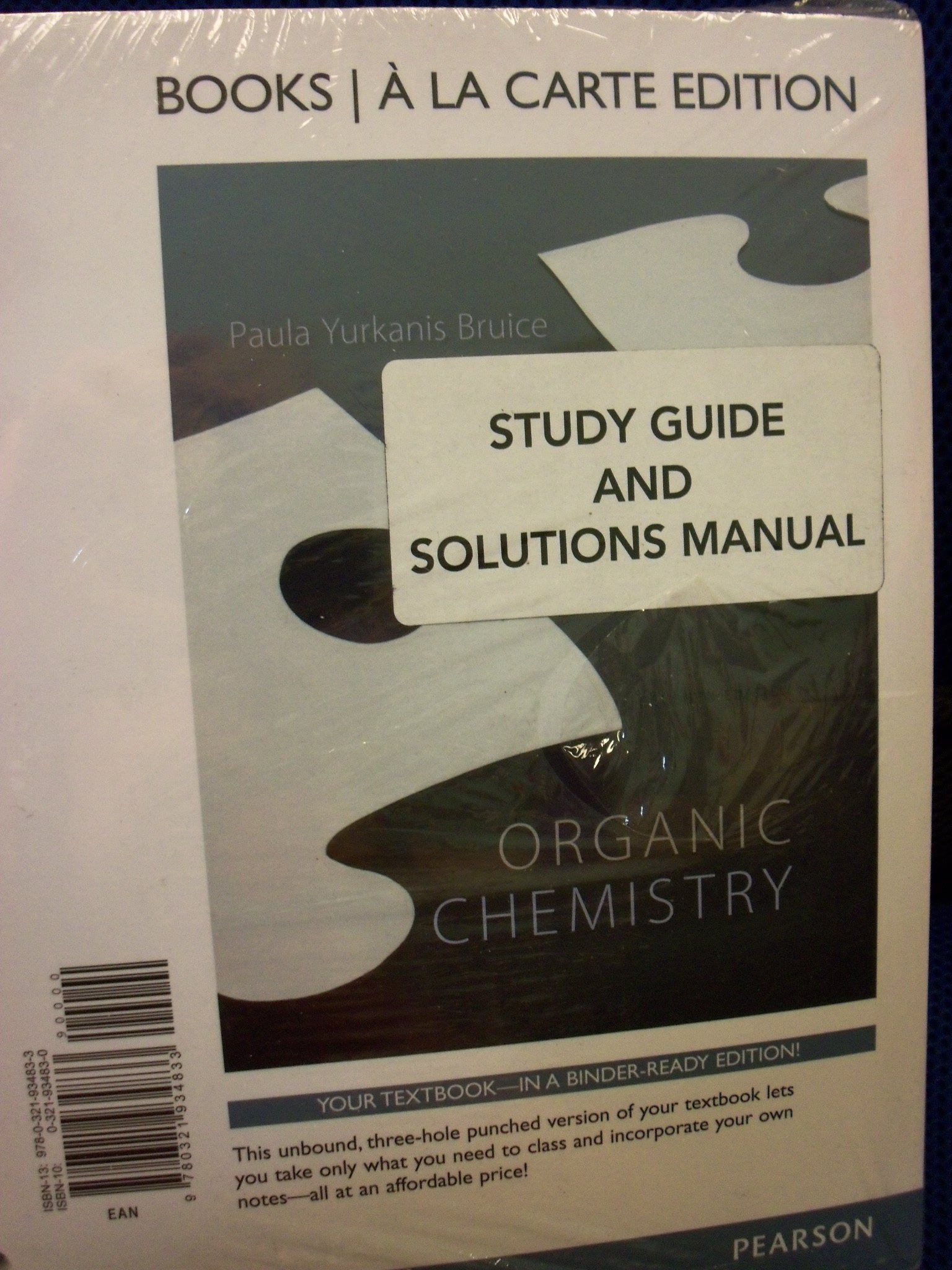 Organic Chemistry 7th Ed [Hardcover] + Study Guide & Solutions Manual  [Loose Leaf] (Bundle): Paula Y. Bruice: 9781269217194: Amazon.com: Books