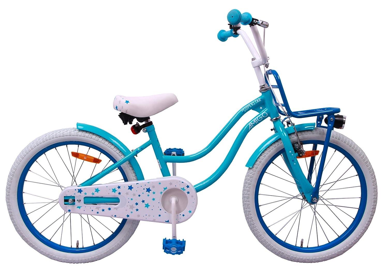 amiGO per 5-9 Anni 20 - Blu Bicicletta Bambini Superstar