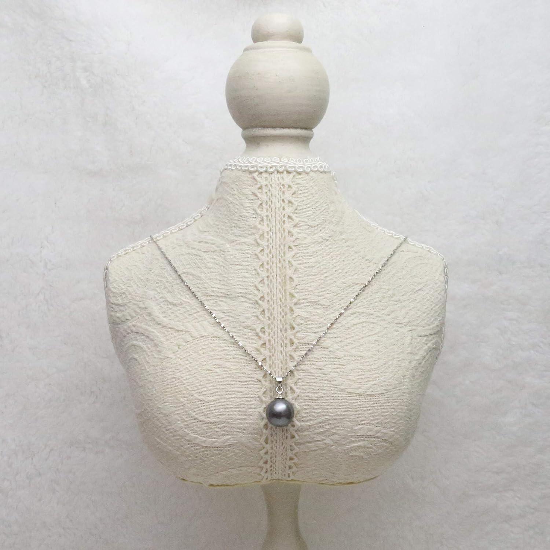 Schmuckwilli Dma0006 Tahiti Pendentif en perles de coquillage pour femme Gris fonc/é