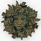Green Spirit, Greenman Decorative Garden Wall Plaque. 12.5cm