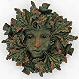 Green Spirit, Greenman Decorative Garden Wall Plaque. 12.5cm
