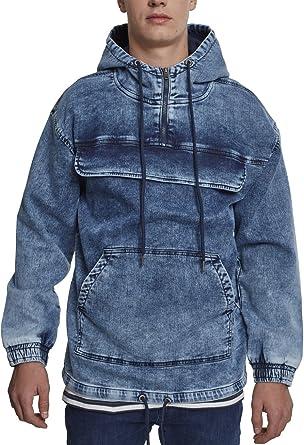 4b1c371da3037 Urban Classics Hoody aus Jeansstoff mit großen Taschen  Amazon.de   Bekleidung