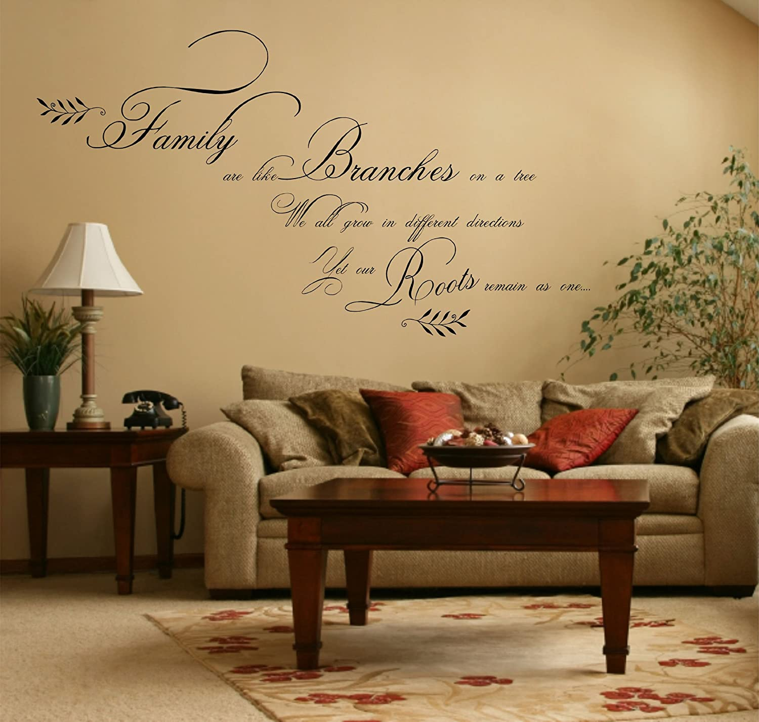Large Family Quote, Vinyl Wall Art Sticker Decal Mural, Bedroom ...