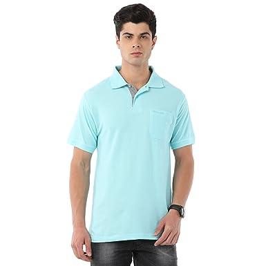 316a5c065a7f Classic Polo Men's Cotton T-Shirt (Light Blue, Medium): Amazon.in ...
