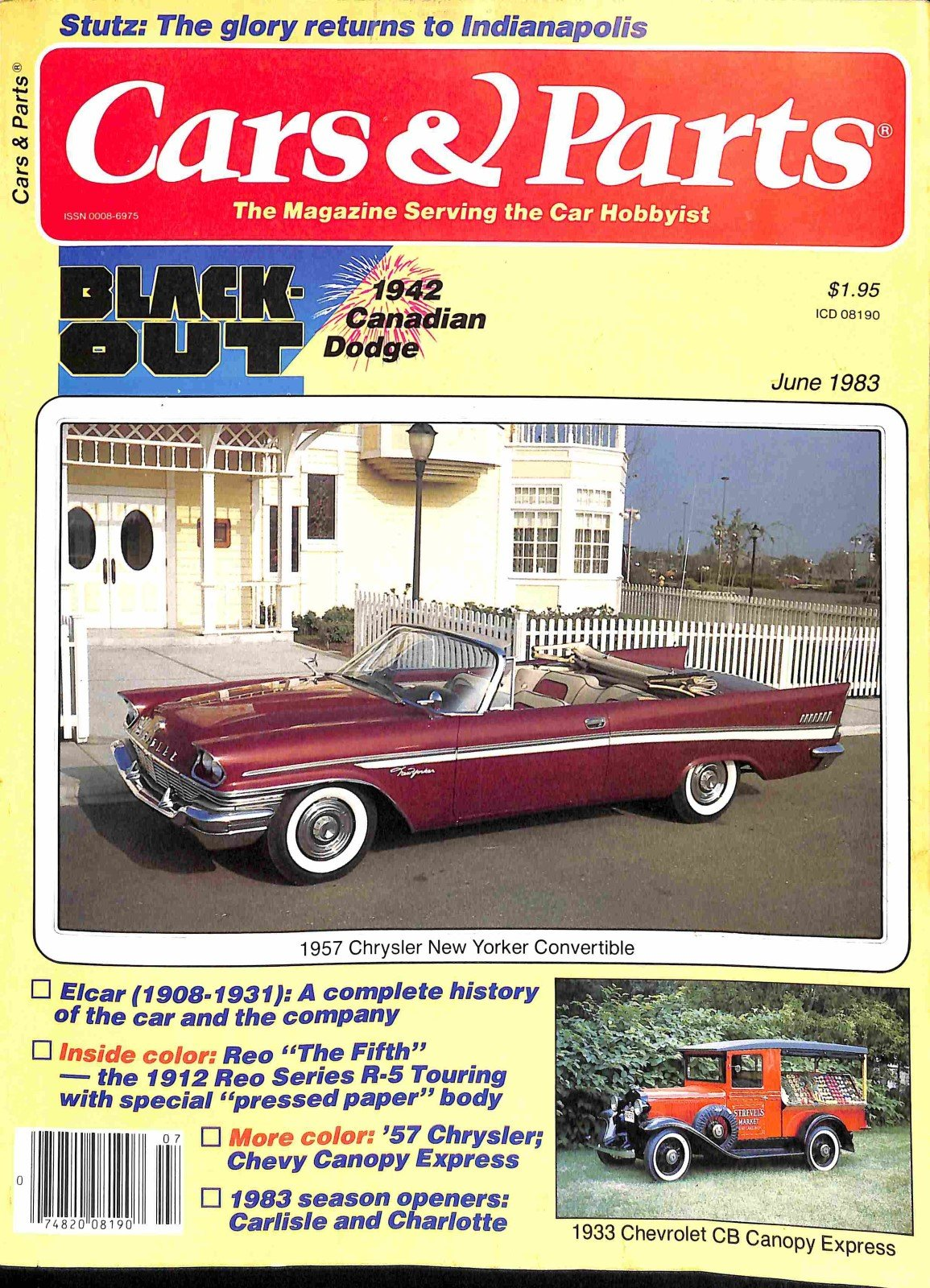 Cars And Parts June 1983 Meremart Books 1942 Chrysler New Yorker Convertible