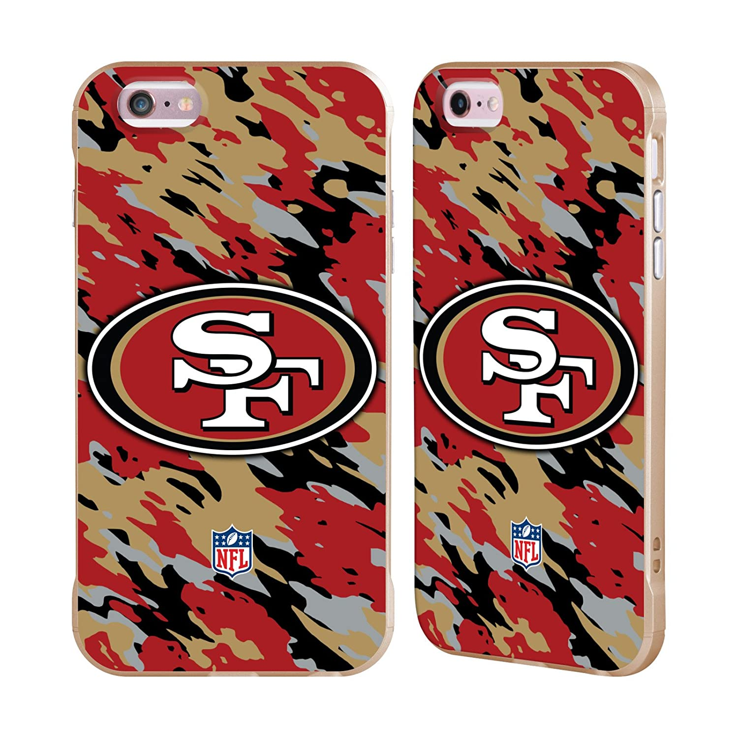 Ufficiale NFL Elmetto San Francisco 49Ers Logo Oro Fender Case per Apple iPhone 6/iPhone 6s Head Case Designs H6009-IPH6-NFLLOSFF-HEL