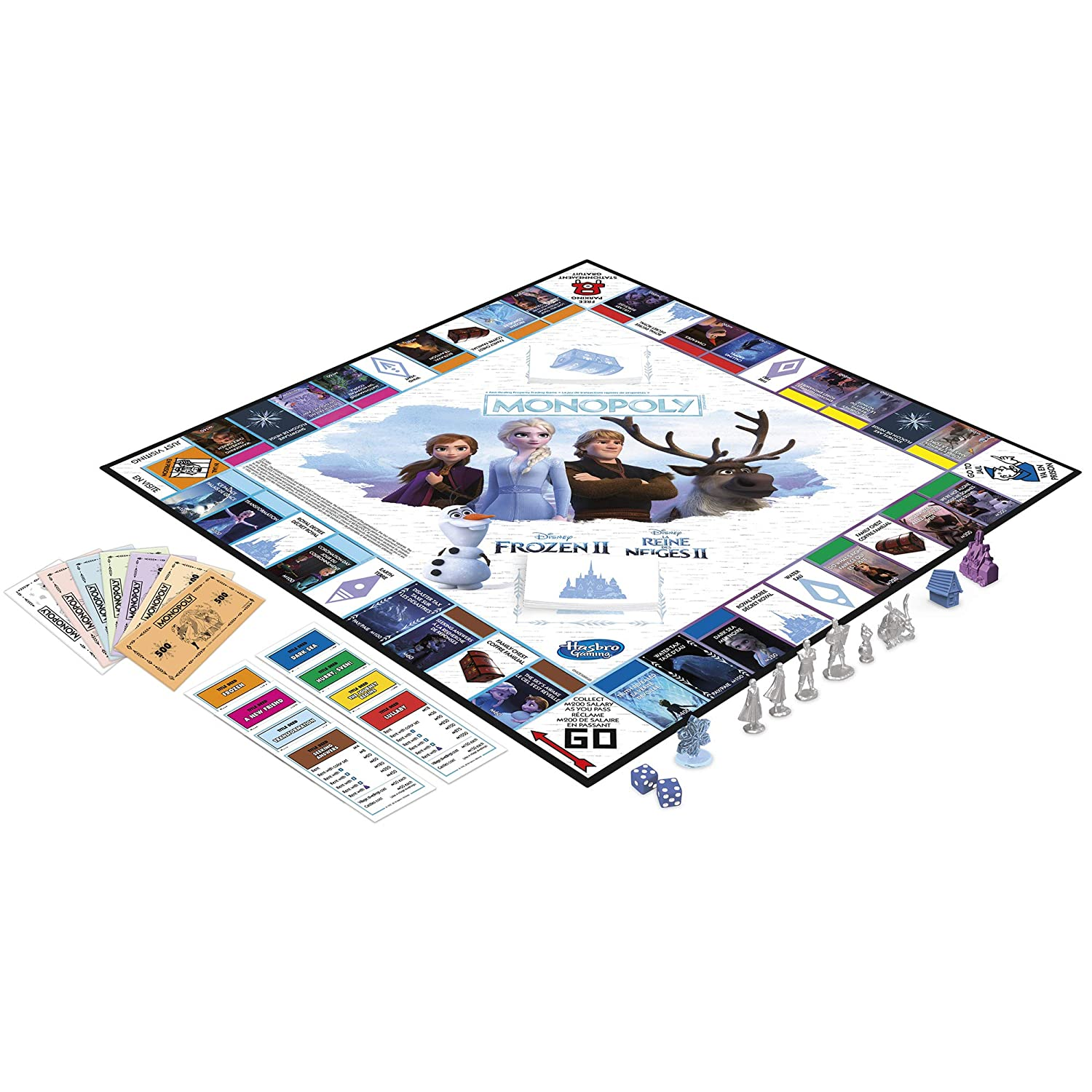 Disney Frozen 2 Edition Board Game for Ages 8 and Up Monopoly Game