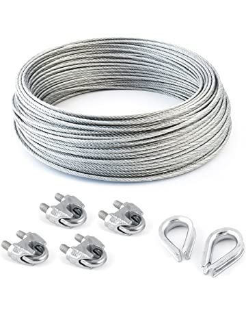 15mm 8mm Various Size Galvanised and Stainless steel Wire rope 5mm 6mm 10mm 5 metres, 10mm Galvanised