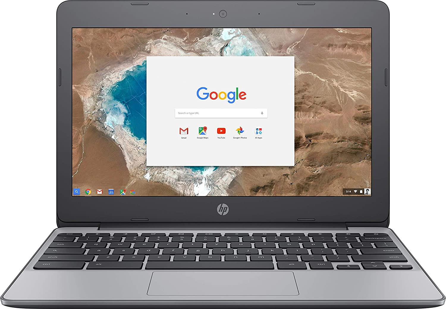HP 11.6-Inch Chromebook, HD Display (1366 x 768), Intel Dual-Core Celeron N3060 1.6GHz, 4GB RAM, 16GB eMMC, HD Webcam, Bluetooth, HDMI, Chrome OS