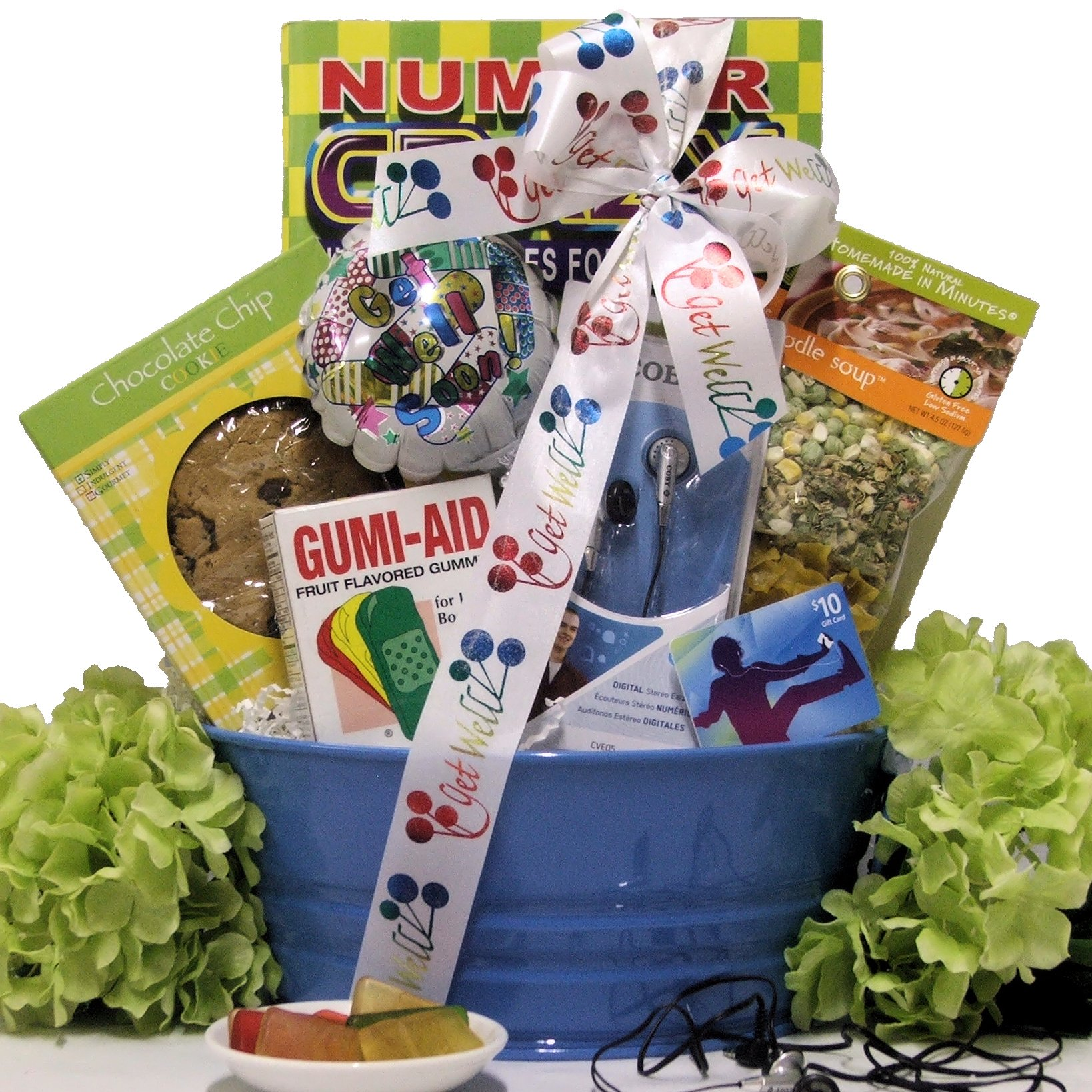 Great Arrivals Boy's Get Well Gift Basket Ages 9 to 12, ITunes Therapy by GreatArrivals Gift Baskets (Image #1)