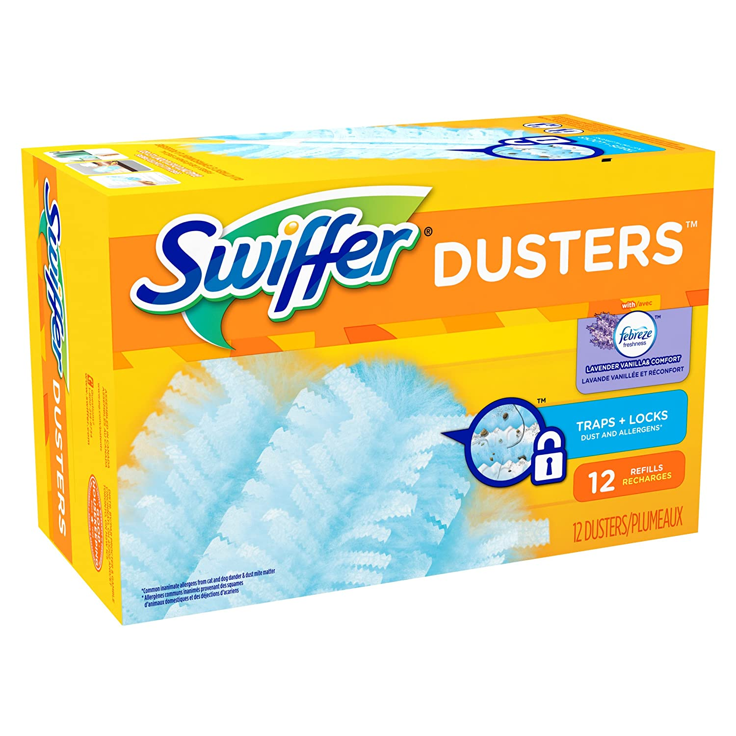 Swiffer 180 Dusters Refills with Febreze Lavender Vanilla & Comfort Scent, 12 Count by Swiffer B008R7CRPO