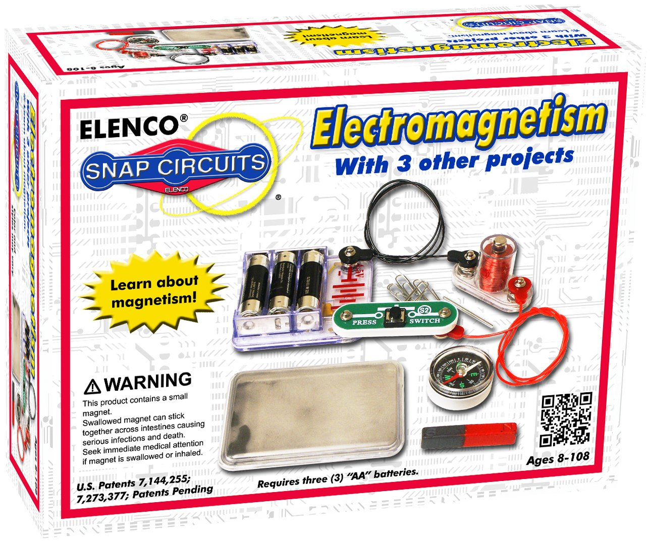 Snap Circuits Electromagnetism Discovery Kit Toys Games Amazoncom Sound Electronics