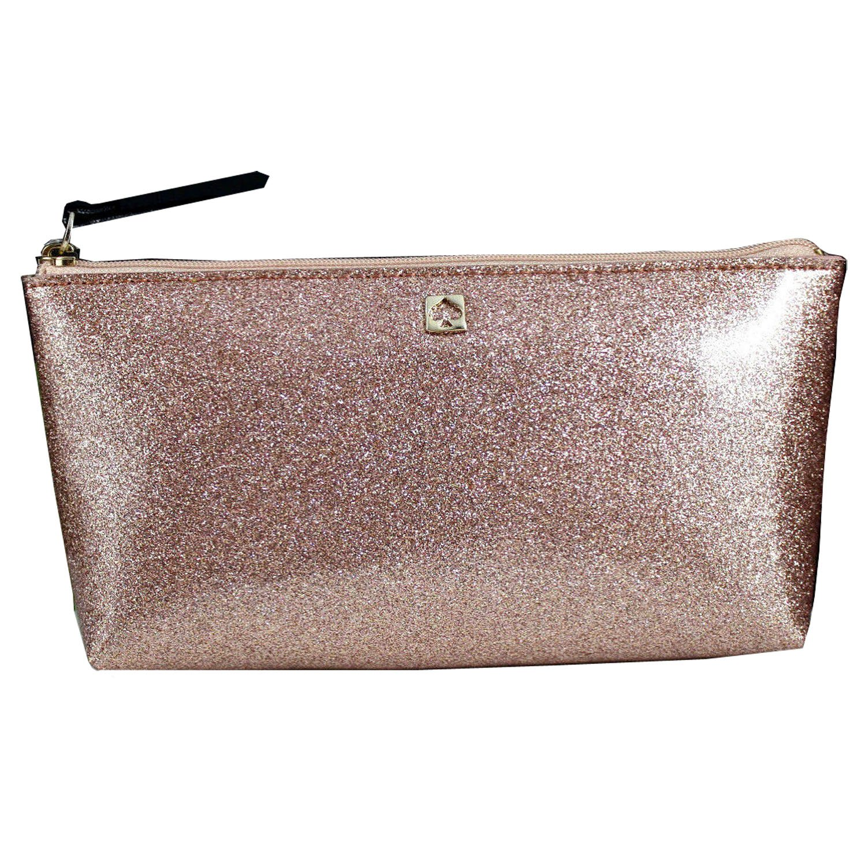 Kate Spade Mavis Street Little Shiloh Cosmetic Case WLRU2370 Rosegold by Kate Spade New York